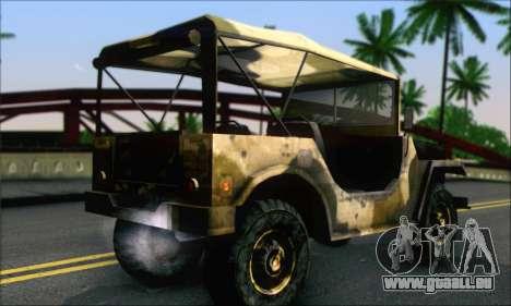 Iguana From Mercenaries 2 World in Flames für GTA San Andreas linke Ansicht