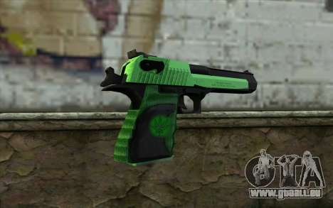 Green Desert Eagle pour GTA San Andreas deuxième écran
