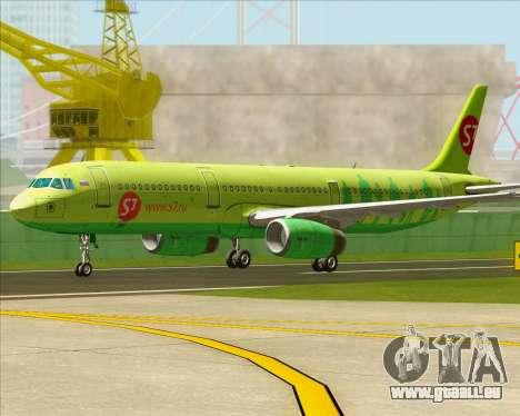 Airbus A321-200 S7 - Siberia Airlines pour GTA San Andreas laissé vue