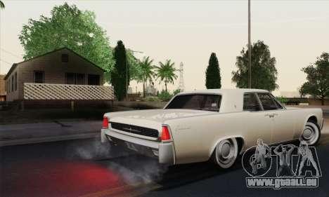 Lincoln Continental-Limousine (53А) 1962 (HQLM) für GTA San Andreas rechten Ansicht