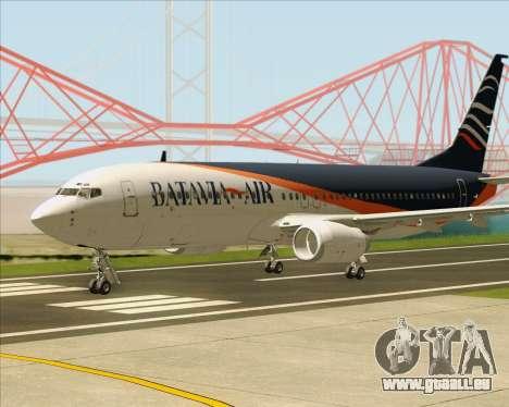Boeing 737-800 Batavia Air (New Livery) pour GTA San Andreas sur la vue arrière gauche