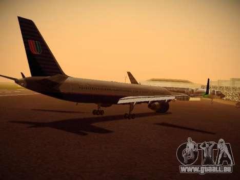 Boeing 757-224 United Airlines für GTA San Andreas rechten Ansicht