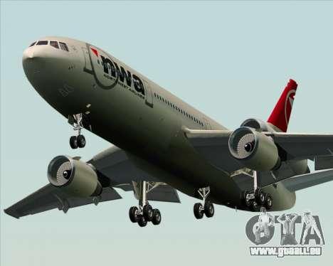 McDonnell Douglas DC-10-30 Northwest Airlines für GTA San Andreas Rückansicht