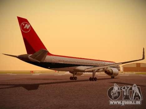 Boeing 757-251 Northwest Airlines für GTA San Andreas rechten Ansicht