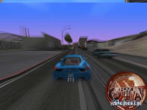 Compteur de vitesse HITMAN pour GTA San Andreas deuxième écran