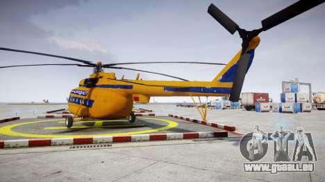 Mi-8 pour GTA 4 Vue arrière de la gauche