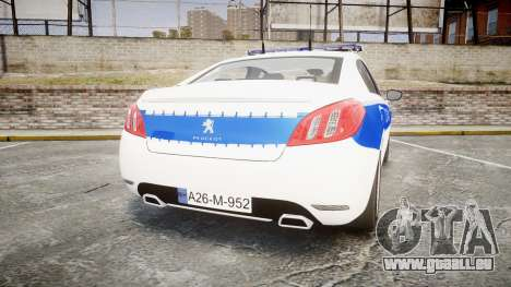 Peugeot 508 Republic of Srpska [ELS] pour GTA 4 Vue arrière de la gauche