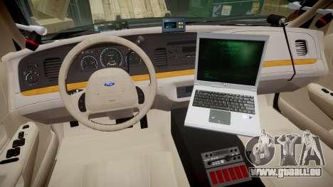 Ford Crown Victoria LASD [ELS] Slicktop für GTA 4 Rückansicht