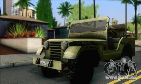 Jeep From The Bureau XCOM Declassified für GTA San Andreas