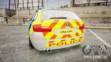 BMW 530d F11 Metropolitan Police [ELS] pour GTA 4 Vue arrière de la gauche
