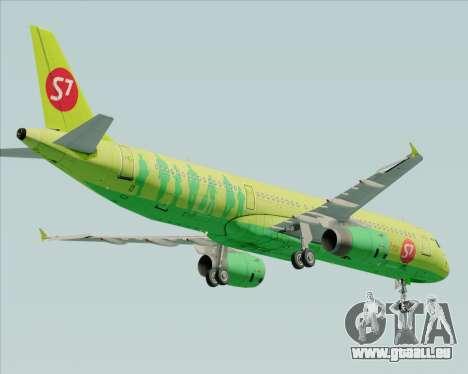 Airbus A321-200 S7 - Siberia Airlines pour GTA San Andreas vue de droite