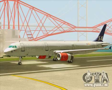 Airbus A321-200 Scandinavian Airlines System pour GTA San Andreas vue intérieure
