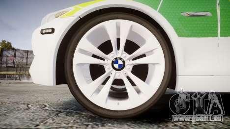 BMW 530d F11 Ambulance [ELS] pour GTA 4 Vue arrière