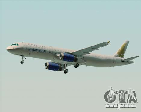 Airbus A321-200 Gulf Air für GTA San Andreas Rückansicht