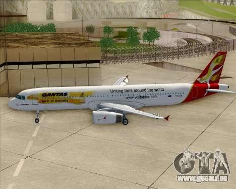 Airbus A321-200 Qantas (Wallabies Livery) pour GTA San Andreas vue de dessous