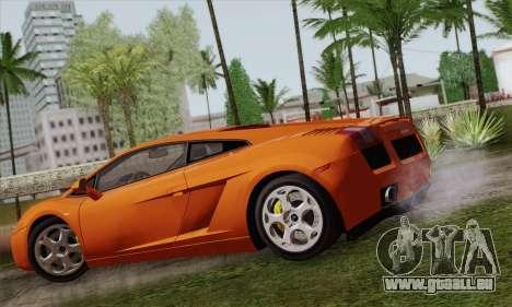 Lamborghini Gallardo 2005 pour GTA San Andreas laissé vue