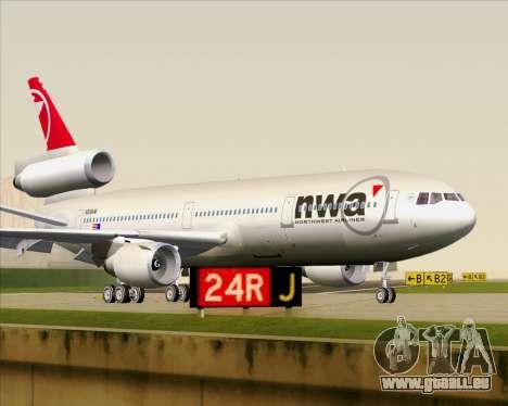 McDonnell Douglas DC-10-30 Northwest Airlines pour GTA San Andreas laissé vue