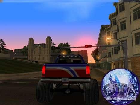Compteur de vitesse HITMAN pour GTA San Andreas quatrième écran
