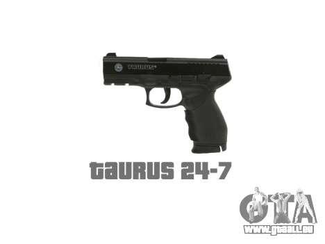 Pistolet Taurus 24-7 noir icon1 pour GTA 4 troisième écran