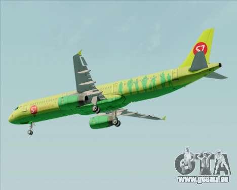 Airbus A321-200 S7 - Siberia Airlines pour GTA San Andreas vue de côté