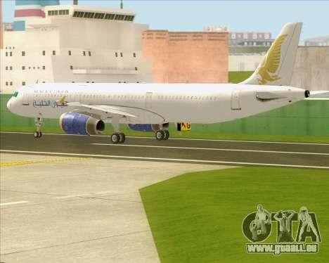 Airbus A321-200 Gulf Air pour GTA San Andreas vue de côté