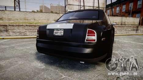Rolls-Royce Phantom EWB pour GTA 4 Vue arrière de la gauche