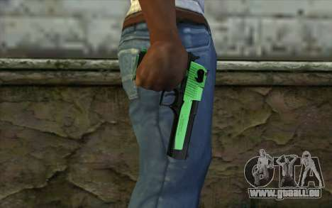 Green Desert Eagle für GTA San Andreas dritten Screenshot