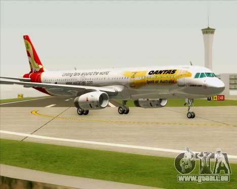 Airbus A321-200 Qantas (Wallabies Livery) für GTA San Andreas linke Ansicht