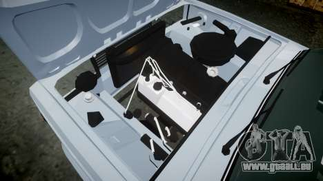 ВАЗ-2107 Avtosh Style pour GTA 4 est une vue de l'intérieur