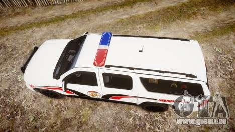 Chevrolet Suburban 2008 Police [ELS] Red & Blue pour GTA 4 est un droit
