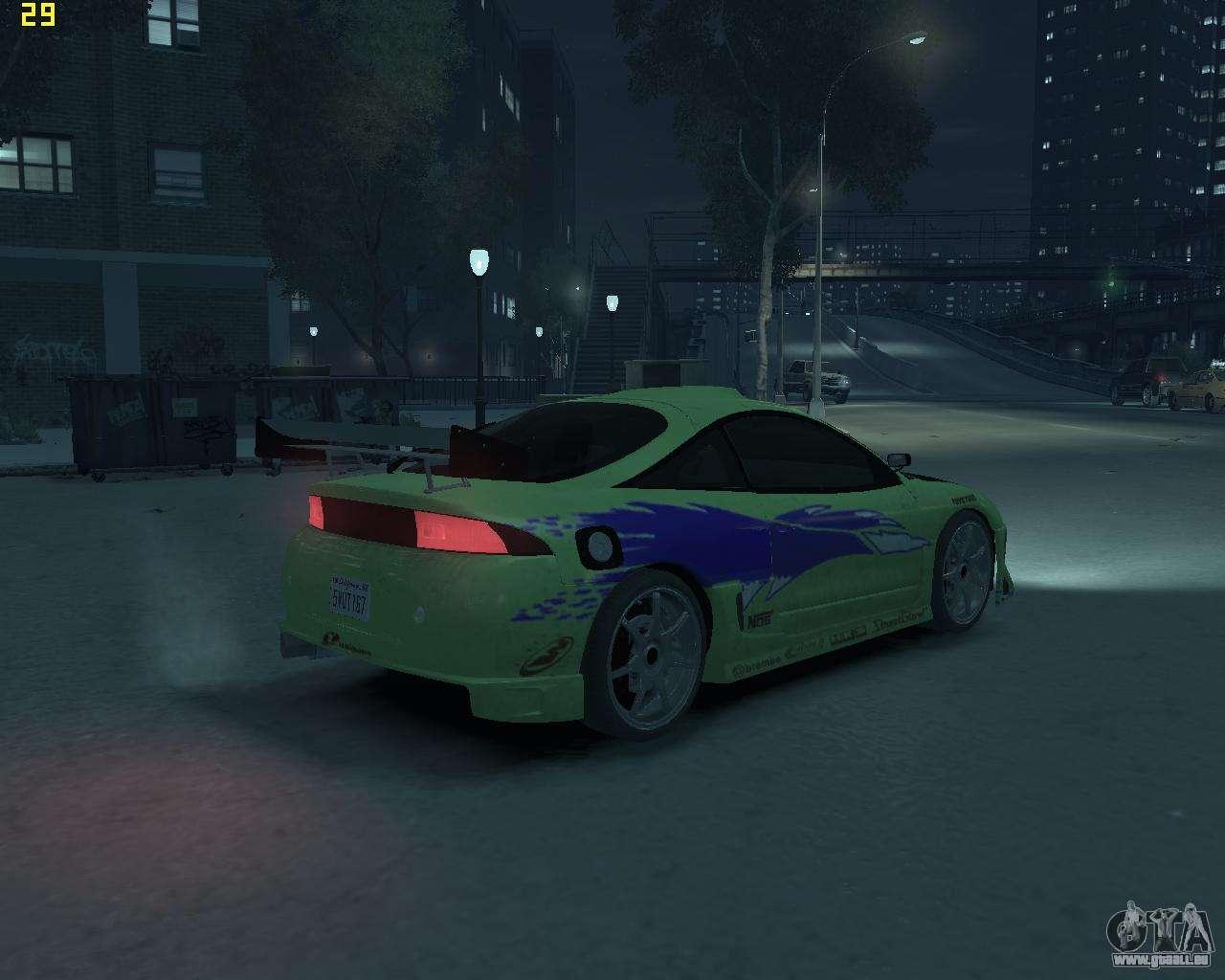 2014 Mitsubishi Eclipse >> Mitsubishi Eclipse from Fast and Furious pour GTA 4