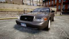 Ford Crown Victoria Unmarked Police [ELS] für GTA 4