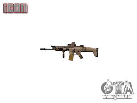 La Machine FN SCAR-L Mc 16 icon2 pour GTA 4 troisième écran