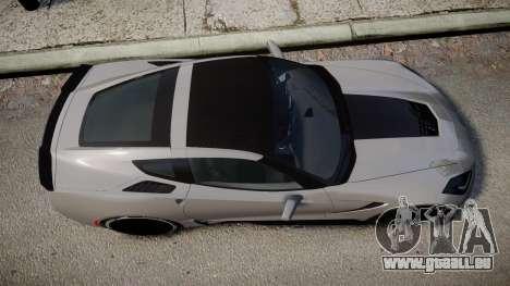 Chevrolet Corvette Z06 2015 TireBFG pour GTA 4 est un droit