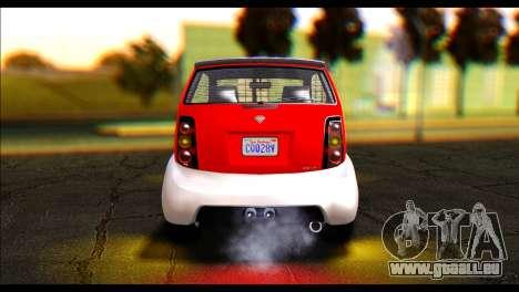 GTA 5 Benefactor Panto IVF pour GTA San Andreas sur la vue arrière gauche