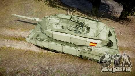 Leopard 2A7 ES Green pour GTA 4 est un droit