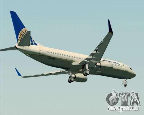 Boeing 737-800 Continental Airlines pour GTA San Andreas vue arrière