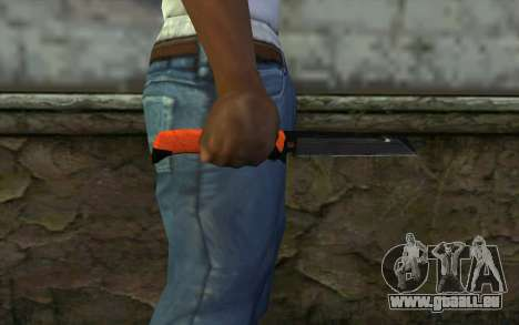 Knife from Battlefield 3 pour GTA San Andreas troisième écran