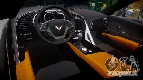 Chevrolet Corvette C7 Stingray 2014 v2.0 TireMi3 pour GTA 4 est une vue de l'intérieur
