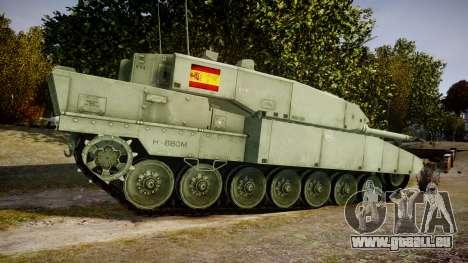 Leopard 2A7 ES Green für GTA 4 linke Ansicht