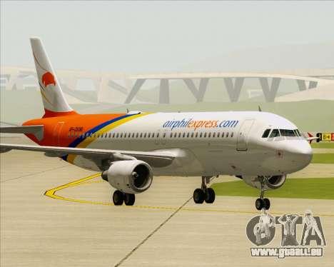 Airbus A320-200 Airphil Express pour GTA San Andreas sur la vue arrière gauche