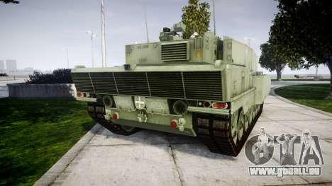 Leopard 2A7 PT Green pour GTA 4 Vue arrière de la gauche