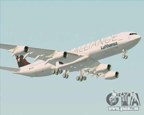 Airbus A340-300 Lufthansa (Star Alliance Livery) pour GTA San Andreas vue intérieure