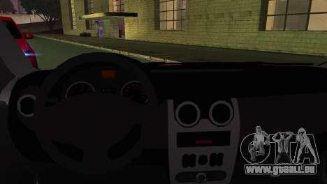 Dacia Logan Kys pour GTA San Andreas sur la vue arrière gauche