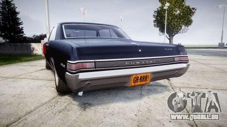 Pontiac GTO 1965 Flames pour GTA 4 Vue arrière de la gauche