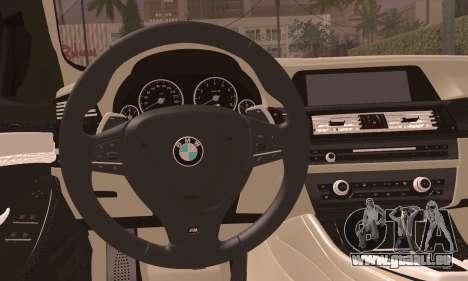 BMW 520d 2012 für GTA San Andreas zurück linke Ansicht