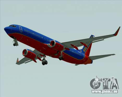Boeing 737-800 Southwest Airlines für GTA San Andreas Innenansicht