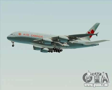Airbus A380-800 Air Canada für GTA San Andreas obere Ansicht