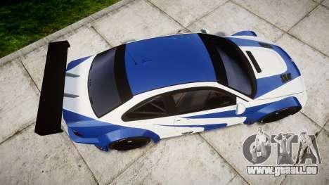 BMW M3 E46 GTR Most Wanted plate Liberty City pour GTA 4 est un droit