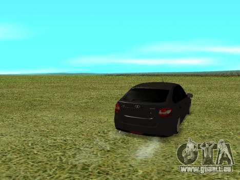 Lada Granta Kalina 2 pour GTA San Andreas sur la vue arrière gauche